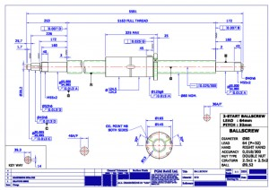 Ballscrew Technical CAD drawing