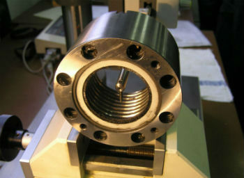 Probe measuring inside ball nut thread form