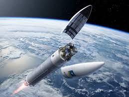 Satellite entering orbit